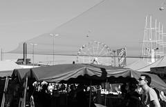 (Flavio Calcagnini) Tags: street photography black white bianco nero finland finlandia helsinki mercato market harbor port porto man ruota panoramica ferris wheel estate summer bancarelle flavio calcagnini kauppatori