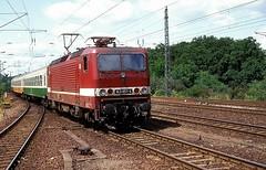 143 851  Potsdam  17.06.92 (w. + h. brutzer) Tags: potsdam eisenbahn eisenbahnen train trains deutschland germany railway elok eloks lokomotive locomotive zug db dr 143 243 webru analog nikon