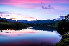 Elter Water twilight (Kuba Abramowicz) Tags: elterwater elter water lake lakes district cumbria uk united kingdom landscape reflection reflections reflect color colors colour colours sky clouds cloud cloudy scenic scenery scene purple nikon nikkor 2470 d610 dusk twilight dark