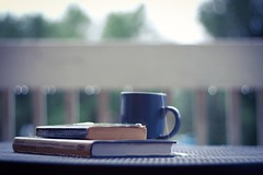 Rainy days are my favorite kind. (miss.interpretations) Tags: rain coffee tea books reading cozy autumn cloudy