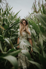 Reap (hollyrosestones) Tags: select reap corn harvest leap levitate green lxc tribe hair flow