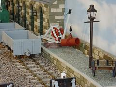 Yard Crane in 16mm Scale (wcrpaul) Tags: yardcrane goodscrane freightcrane goodswagon freightwagon modelrailway narrowgauge 16mm 16mmscale 45mm 45mmscale modelrailroad modeltrain modeltrains paulbackhouse gaslamp handcart cart dscf717 sonycybershot