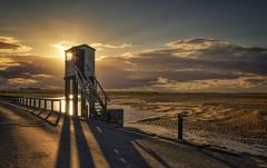 Watchtower Sundown (Captain Nikon) Tags: lindisfarne holyisland causeway watchtower bridge northumberland northeast sundown sunset sunrays moody shadows nikond7000 sigma1020mmf4 srbgraduated06softgradfilter tidal