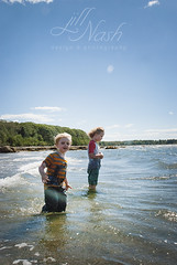 Water wanderers (grilljam) Tags: seamus 4yrs ewan 7yrs summer august2016 mitchellfield harpswell whatagorgeousday extremelywindy