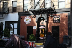 Walking on East 3rd Street (ShellyS) Tags: nyc newyorkcity manhattan buildings streeets hellsangels