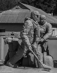 Fire fighters in Chernobyl (Dave and Jodi Piddington) Tags: chernobyl ukraine holiday decay abandonedbuildings death history nucleardisaster accident travel dark tourism darktourism photography architecture nuclear disasters adventure kiev blackandwhite