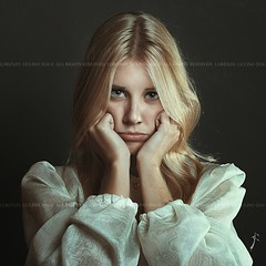 Beautiful girl with sulky expression (FedeFM1) Tags: photography alone annoyed beauty blond bored childish dark expression eyes female funny gaze girl hair long melancholy portrait sad sulky unhappy tears woman young