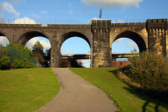 Northern England #0081 Widnes 140911 Trans Pennine Trail (Steveox55) Tags: bridge railway merseyside widnes transpennineway