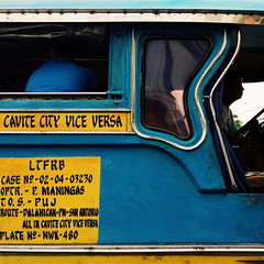 (Jenielle Herrera) Tags: jeep jeepney philippines cavite urban street blue yellow vehicle transportation driver vsco vscocam signage cavitecity