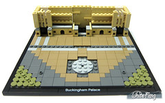 Building process - Constructing the pillars and building area (WhiteFang (Eurobricks)) Tags: lego architecture set landmark country buckingham palace victoria elizabeth royal royalty family crown jewel imperial statue tourist united kingdom uk micro bus taxi