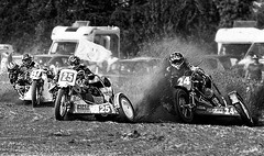 Wrong place wrong time. (bainebiker) Tags: grasstrackracing motorcycle monochrome actionsport canonef100400mmf4556lis thorpestpeter lincolnshire uk canonef100400mmf4556lisiiusm