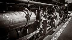 Drive Pistons & Rods of Clove Valley No.4 B & W_ (Charlie Day DaytimeStudios) Tags: ca california engine locomotive nilecanyon nilescanyonrailroad nilesrailroad railcars railsystems railroad railroadtracks sanfranciscobayarea steamlocomovtive sunolca trainengine trains