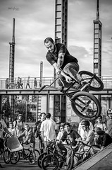 Halfpipe bike jump (pietronaccari) Tags: nikond5100 d5100 italy italia torino turin piemonte streetstyle bike jump halfpipe parcodora
