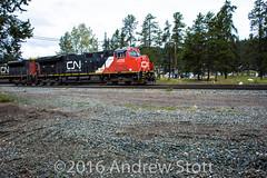 Arriving Jasper (awstott) Tags: canadiannationalrailway cnr train 8866 cn locomotive 3056 et44ac generalelectric ge