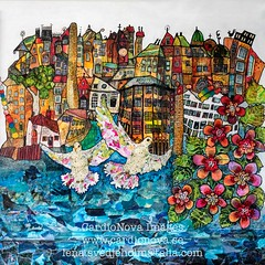 "Norrkping ""My kind of Town"" by Lena Svedjeholm (Rolf_52) Tags: konst tavlor kulturnatt kulturnatten kulturnatten2016 norrkping stergtland art mixed media acryl lenasvedjeholm lena svedjeholm cardionova images artwork blandteknik mlning kind town"