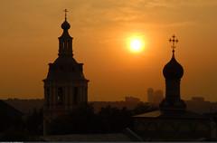 (St. Andrew's monastery) (Nickolas Titkov) Tags:  metrobridge    moscow moscowriver summer  evening  nikond200 nikkor24120mm andrewsmonastery   leninskygory vorobjevygory sparrowhills outdoor skyline sunset