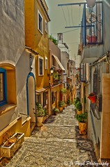 Calpe Casco Antiguo (Jo Pugh Photography) Tags: calp calpe old town steps stairs pebbled cobbled street spanish spain costa blanca