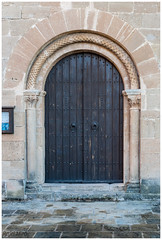 Porta de l'esglsia (Rafel Miro) Tags: aldaba catalonia catalunya door forja handle knocker latch picaporta porta portadefusta puerta puertademadera talamanca wooddoor wroughtiron esp