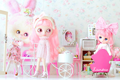 where you going sistas? (launshae) Tags: pink paloma valentine blythe francoise middie ohchiwawa launshae