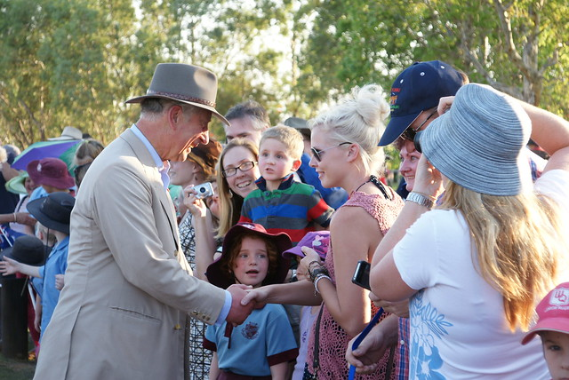 The Prince and The Duchess of Cornwall arrive in Longreach, Queensland