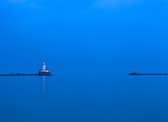 Lighthouse Blues (Jo Bet) Tags: longexposure lighthouse chicago illinois lakemichigan lakeshoredrive navypier bluehour chicagoist canon5dmarkii canonef70200mmlisiiusm mambol jobetpalmaira
