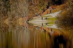 Riflessi a Tovel (Dr. Maus) Tags: lago italia persone trento acqua autunno colori riflessi trentino bosco tovel valdinon