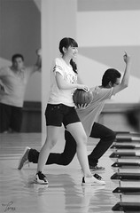 Which is your focus? (Tira Arafa) Tags: bw sport bowling jkt48 frieska