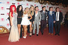 Holly Hagan, Vicky Pattison, Ricci Guarnaccio, Charlotte-Letitia Crosby, Gaz Beadle, James Tindale, Scott Timlin and Sophie Kasaei of Geordie Shore The MTV EMA's 2012 held at Festhalle - arrivals Frankfurt, Germany
