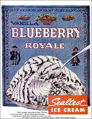 1957 Blueberry Royale Sealtest (1950sUnlimited) Tags: food design desserts icecream 1950s packaging snacks 1960s dairy midcentury snackfood sealtest