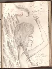 On a good day (Lucy Bel) Tags: blanco day chica good negro lapiz aves bosque pluma joanna papel cancion newsom ilustracion