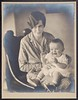 Infant James D. Watson with his mother, 1928 (CSHL Archives) Tags: portraits cshl jamesdwatson moderngeneticsanditsfoundations
