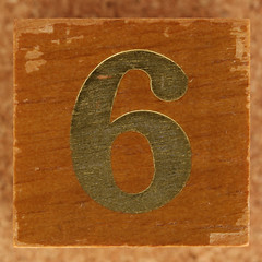 Calendar Wood Block number 6 (Leo Reynolds) Tags: 6 canon eos iso100 number 60mm f80 six onedigit number6 0sec 40d hpexif 033ev numberset grouponedigit xsquarex xleol30x