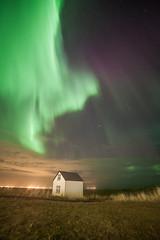The little house (IMG_7517) (Jennika Argent) Tags: sky house night stars iceland little reykjanes northernlights auroraborealis 2012