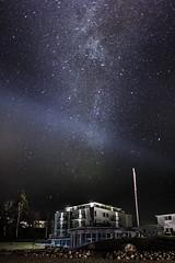 Hotel night (Torehegg) Tags: sea seascape norway night strand stars hotel nightshot nightsky milkyway grimstad fevik