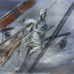 Ghost ship (Artypixall) Tags: texture sandiego embarcadero getty tallship sailingship faa hmssurprise