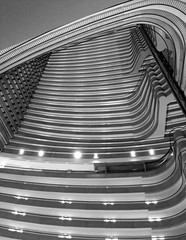 geometry (Park Doc) Tags: atlanta urban blackandwhite bw abstract monochrome beauty up lines architecture marriott ga georgia hotel view geometry curves landmark structure dizzy minimalism atrium complex marquis expansion iphone iphone5