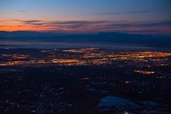 Anchorage (MichelleStevenson9510) Tags: city sunset mountain alaska lights dusk top anchorage