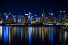 Manhattan Skyline at night from West New York (Jason Pierce Photography) Tags: city blue black reflection building beauty yellow newjersey cityscape cityscapes beast hudsonriver empirestate scape atnight holler westnewyork newyorkcityskyline goham newyorkcityphotography canon5dmarkii mygearandme nyccityscapes newyorkcitycityscapes jasonpiercephotography