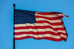 USA Flag (Monzstro Man) Tags: pictures new york city nyc winter light urban usa color colour colors digital lights photo nikon december colours image photos manhattan picture images af vr 2010 18200mm d7000 snikkor