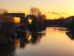 Billekanal (Paul und Lotte) Tags: sunset germany deutschland canal hamburg kanal sonnenaufgang hansestadt bille norddeutschland billekanal billecanal rothenburgort