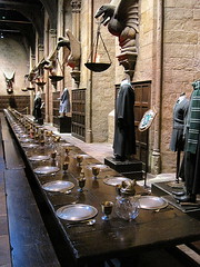 Dining Hall - Harry Potter exhibition, Warner Bros. Studios, Leavesden (Snapshooter46) Tags: harrypotter exhibition dininghall studios hogwarts warnerbros leavesden