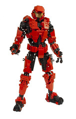 Sarge from Red Vs Blue (DViddy) Tags: blue red factory lego teeth halo system technic hero rooster bungee vs shotgun fusion bionicle spartan sarge dirtbag rvb moc