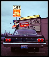Classic cafe () Tags: auto urban favorite usa west classic ford car sign breakfast dinner america silver way lunch restaurant coast photo cafe cool automobile neon image south united famous picture diner coke spoon neighborhood nostalgia photograph drinks vehicle nostalgic americana local tacoma cocacola states 500 roadside cocktails greasy fairlane 1965 marcias worldcars