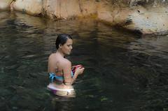 Heremana (philippe*) Tags: portrait river tahiti bathing nikond7000