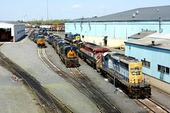 Selkirk Yard Looking North (greenthumb_38) Tags: railroad yard train locomotive trainyard csx jeffreybass