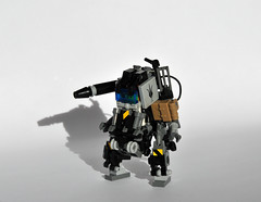 HM-07 HardSuit (Mecharonn) Tags: dark bag gun lego hard tan suit visor mecha mech hardsuit mecharonn