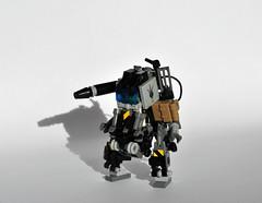 HM-07 HardSuit (Mecharonn) Tags: dark bag gun lego hard tan suit visor mecha mech hardsuit mecharonn