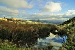 The Great Ridge. (sidibousaid60) Tags: uk reflection nationalpark peakdistrict winhill hopevalley losehill backtor greatridge