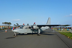 BN Defender:  RAF Leuchars, Air Show, September 2012 (jst @ Tanfield) Tags: army aviation military communications propellor liaison rafleucharsairshowseptember2012