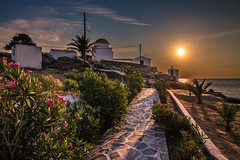 Sunset in the island (Vagelis Pikoulas) Tags: travel sunset sea summer sun church canon landscape island view july tokina greece 6d 2016 2470mm europw kyklades kythnos